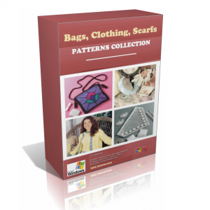 Bags, Clothing & Scarfs Crochet Patterns In A Pack