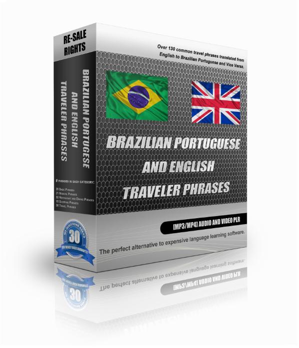 Brazilian Portuguese And English Traveller Phrase