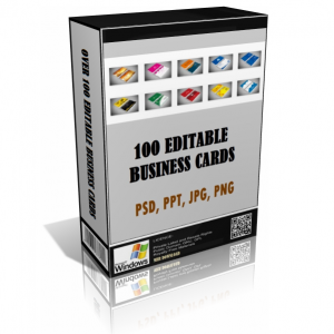 Over 100 Editable Professional Business Cards
