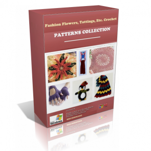 Fashion Flowers And Tattings Crochet Patterns In A Pack