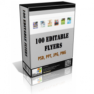 Over 100 Editable Flyers