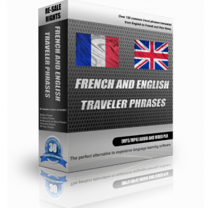 French And English Traveller Phrases In A Pack