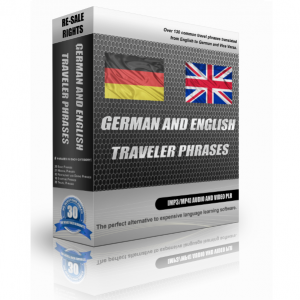 German And English Traveller Phrases In A Pack