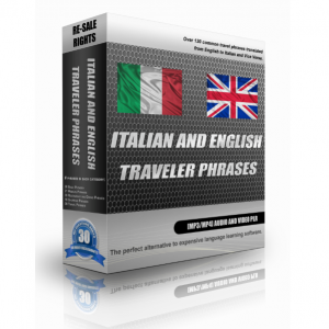 Italian And English Traveller Phrases In A Pack