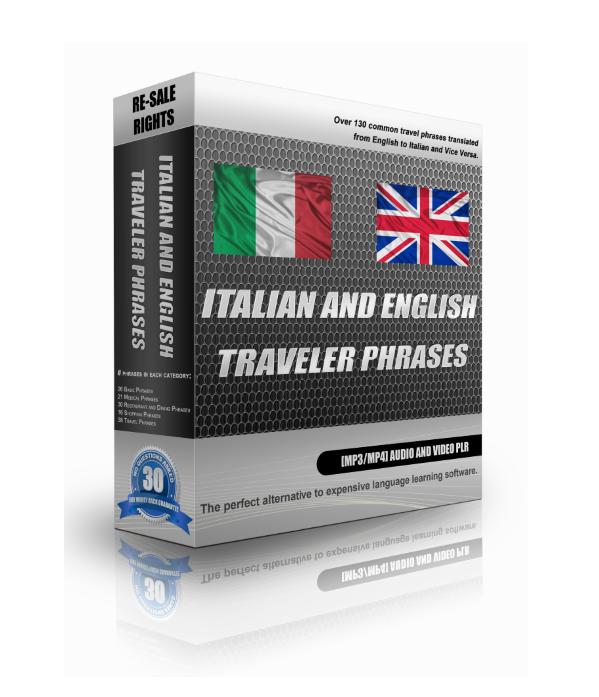 English Italian Travellers Phrases