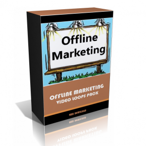 Offline Marketing Video Background Loops Pack