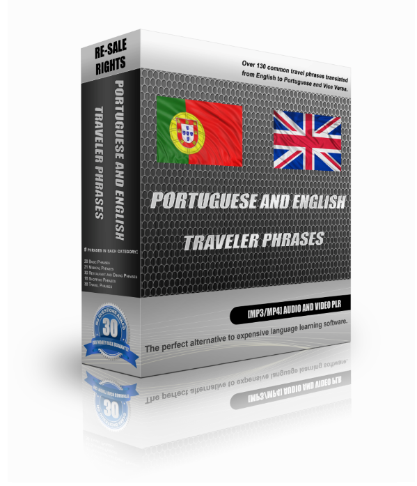 Portuguese And English Traveller Phrases