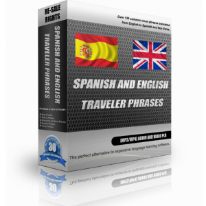 Spanish And English Traveller Phrases In A Pack