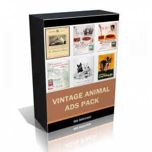Vintage Animal Ads Images Collection