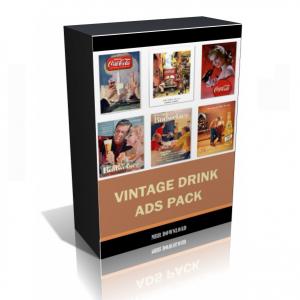 Vintage Drink Ads Images Collection