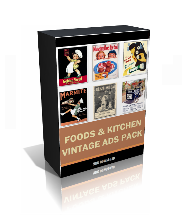 Vintage Foods and Kitchen Ads