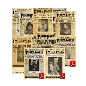 Inside Facts Of Stage And Screen Newspaper Vintage Collection 1930-1931